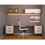 Fine Mod Imports Twist Office Chair Mid Back in White