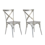 Fine Mod Imports Jenbo Dining Side Chair Set of 2 Chairs