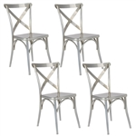 Fine Mod Imports Jenbo Dining Side Chair Set of 4 Chairs