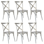 Fine Mod Imports Jenbo Dining Side Chair Set of 6 Chairs