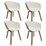 Fine Mod Imports Shen Odger Dining Chair Set of 4