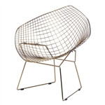 Fine Mod Imports Gold Wire Diamond Chair Set Of 2