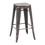 Zuo Modern Marius Barstool Antique Black Gold