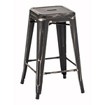 Zuo Modern Marius Counter Stool Anti Black Gold