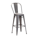 Zuo Modern Elio Bar Chair Gunmetal