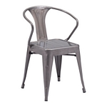 Zuo Modern Helix Dining Chair Gunmetal
