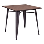 Zuo Modern Titus Dining Table Rusty Wood