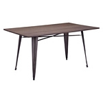 Zuo Modern Titus Rectangul Dining Table Rustic Wood
