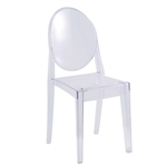 Fine Mod Imports Clear Side Chair - Customer Return