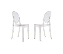 Fine Mod Imports Philippe Starck Style Victoria Ghost Chairs Set Of 2
