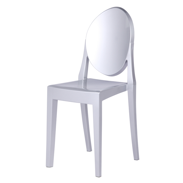 Philippe starck style victoria ghost chair silver for Philippe starck style