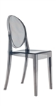 Fine Mod Imports Philippe Starck Style Victoria Ghost Chair in Smoke