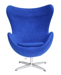 Fine Mod Imports Arne Jacobsen Egg Chair In Blue Wool