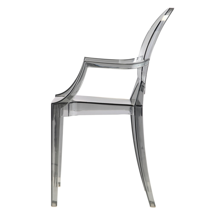 Fine Mod Imports Philippe Starck Style Louis Ghost Arm Chair   Smoke Color