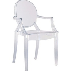 Fine Mod Imports Philippe Starck Style Louis Ghost Arm Chair