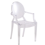 Fine Mod Imports Clear Arm Chair - Customer Return