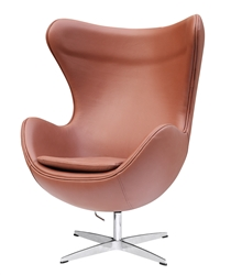 Fine Mod Imports Arne Jacobsen Egg Chair In Light Brown
