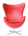 Fine Mod Imports Arne Jacobsen Egg Chair In Red Leather