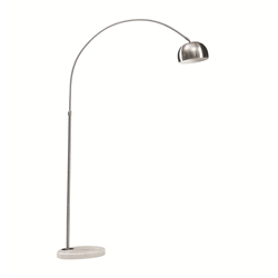 Fine Mod Imports Arco Arch Style Lamp Round Marble Base