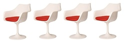 Fine Mod Imports Eero Saarinen Style Tulip Tulip Arm Chair Set Of 4