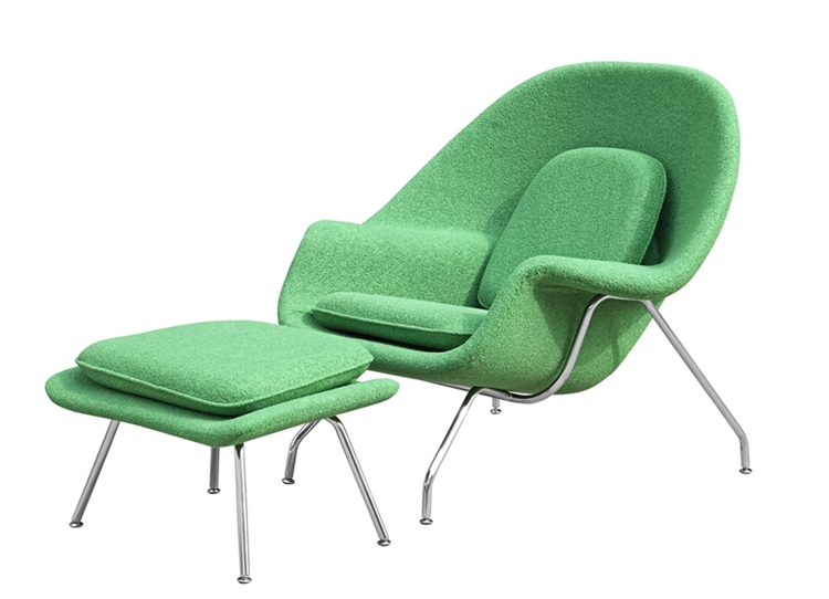 Womb Lounge Chair eero saarinen style womb chair and ottoman set green wool