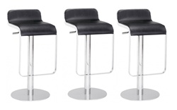 Fine Mod Imports LEM Style Piston Bar Stool in Genuine Leather Set Of 3