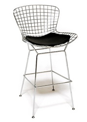 Fine Mod Imports Bertoia Style Wire Bar Stool  Chair