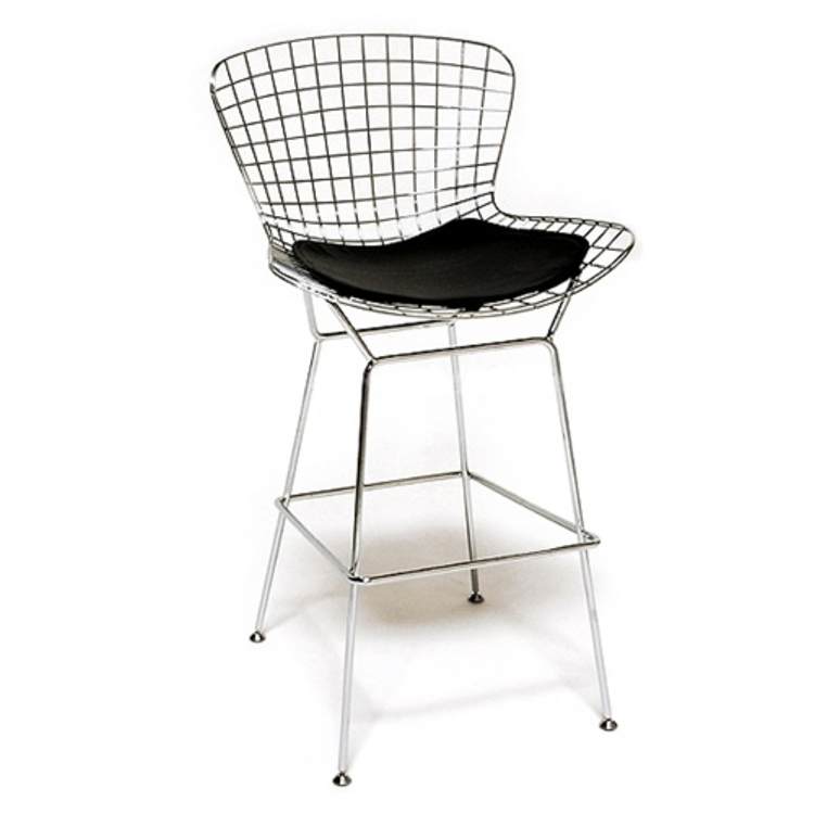 Bertoia Style Chair bertoia style wire bar stool chair set of 4