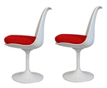 Fine Mod Imports Eero Saarinen Style Tulip Side Chair Set Of 2
