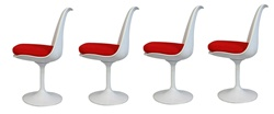 Fine Mod Imports Eero Saarinen Style Tulip Side Chair Set Of 4