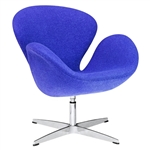 Fine Mod Imports Arne Jacobsen Swan Chair In Blue Wool