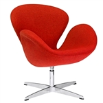 Fine Mod Imports Arne Jacobsen Swan Chair In Orange Wool