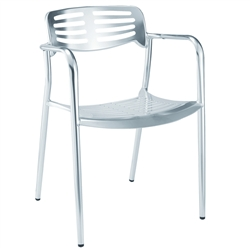 Fine Mod Imports Toledo Style Outdoor Aluminum Accent Chair