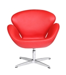 Fine Mod Imports Arne Jacobsen Swan Chair In Red Leather