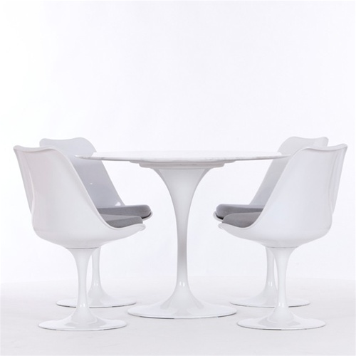 Eero Saarinen Style Tulip Dining Set 42u0026quot; Table and 4 Chairs