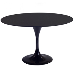 "Fine Mod Imports Eero Saarinen Style Tulip Table 48"" in Black"
