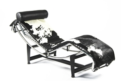 Pony Chaise Lounge LC4 Black Cowhide
