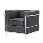 Fine Mod Imports LC2 Arm Lounge chair In Black Leather