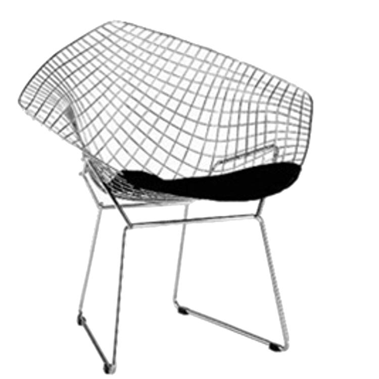 fine mod imports bertoia style wire diamond chair