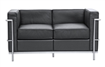 Fine Mod Imports LC2 Petit Loveseat In Black Leather