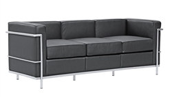 Fine Mod Imports LC2 Petit Sofa In Black Leather