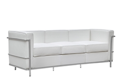 Fine Mod Imports LC2 Petit Sofa In White Leather