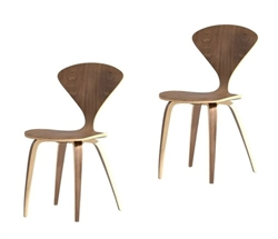 Fine Mod Imports Normen Chair Modern Wooden Side Chair Set Of 2