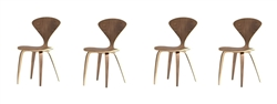 Fine Mod Imports Normen Chair Modern Wooden Side Chair Set Of 4