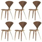 Fine Mod Imports Normen Chair Modern Wooden Side Chair Set Of 6