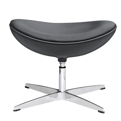 Fine Mod Imports Arne Jacobsen Egg Ottoman In Leather