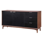 Zuo Modern Liberty City Buffet Walnut & Black