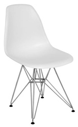 Fine Mod Imports Molded Plastic Side Chair WireLeg Base