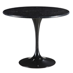 "Fine Mod Imports Eero Saarinen Style Tulip Marble Table 39"" In Black"