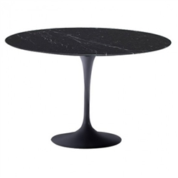 "Fine Mod Imports Eero Saarinen Style Tulip Marble Table 60"" In Black"